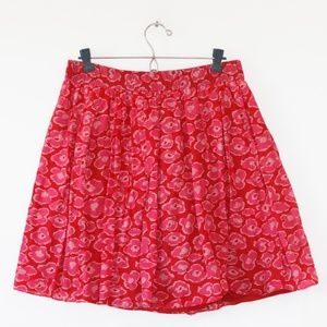 Marc by Marc Jacobs Red Print Mini Skirt L